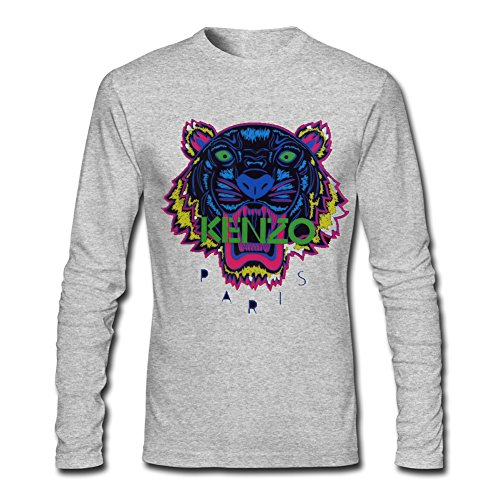 Long Sleeve Graphic Tee (KENZO Tiger Head For 2016 Mens Printed Long Sleeve tops t shirts)