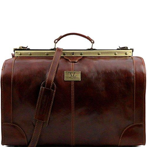 Tuscany Leather - Madrid - Borsa da viaggio in pelle - Misura grande Testa di Moro - TL1022/5 Marrone