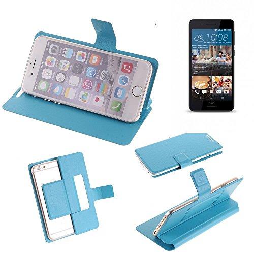 K-S-Trade Flipcover für HTC Desire 728G Dual SIM Schutz Hülle Schutzhülle Flip Cover Handy case Smartphone Handyhülle blau