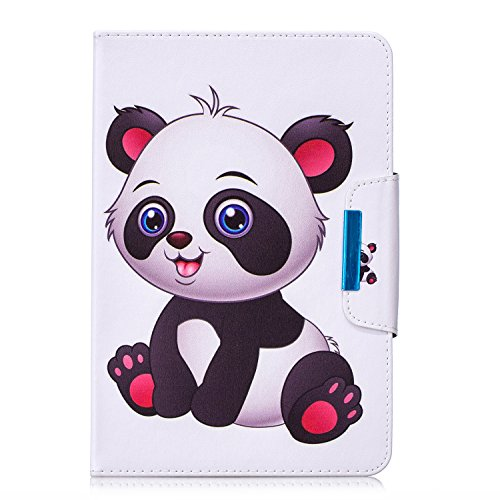 "HereMore Funda para 7"" Tableta, Carcasa Protección para iPad Mini, Samsung Galaxy Tab A6 7""/Galaxy Tab 3 Lite, Huawei MediaPad T3 7"", Kobo Aura H2O Edition 2, Lenovo Tab3 A7-10/Tab 7 Essential,Panda"