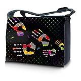 Luxburg® design sac en bandoulière sacoche sac collège daily bag 15,6 pouces, motif: Empreintes de main