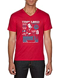 Touchlines Time Lord Magazine Who, T-Shirt Homme
