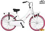 Altec Urban Mädchenrad Transportfahrrad Weiß-Pink 22 Zoll