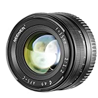 Neewer 35mm F1,2 Apertura Grande Prime APS-C Lente de Aluminio Compatibl...