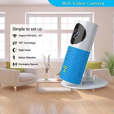 Clever dog Wireless security wifi cameras Smart Surveillance camera (Blue)  ZAY