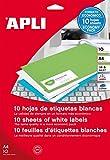 APLI 12927 - Etiquetas blancas imprimibles