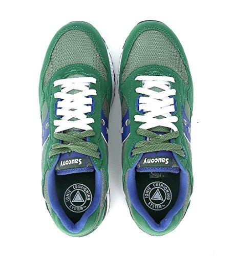 Sneaker Saucony Shadow 5000 in suede e nylon verde smeraldo e blu Verde