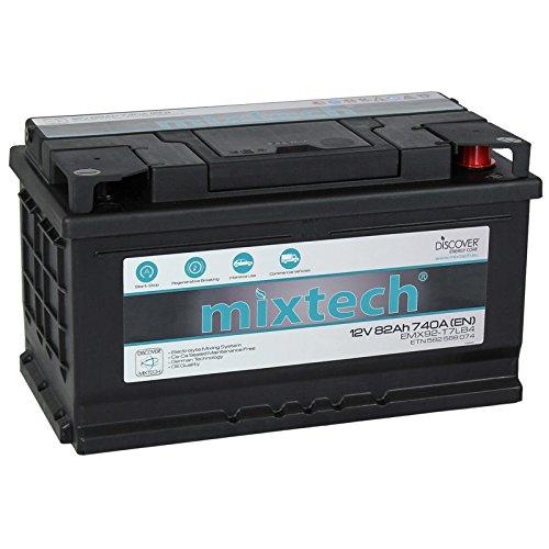 mixtech 12V Autobatterie 82Ah | 9 Varianten: 48Ah - 105Ah | Nass Starterbatterie mit 360 Grad Elektrolyt-Durchmischung | KFZ-Batterie wartungsfrei ... (82Ah) (Batterie Säure Für Den Verkauf)