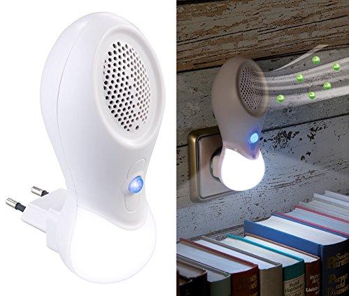 newgen medicals Ionenluftreiniger: 2in1-Steckdosen-Ionisator-Luftreiniger & LED-Nachtlicht, bis 15 m² (Ionisationsgeräte Luftreiniger)