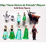 SQUICKLE Characters Snow Sisters and Friends - Set of 10 Doll Toys