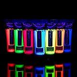 UV Glow 7 x 10ml UV-Bodypaint Körpermalfarben Schwarzlicht Fluoreszierende Schminke Bodypainting Neon Farben Leuchtfarben