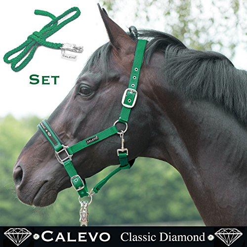 CALEVO - Stallhalfter-SET Halfter+Strick - Classic DIAMOND