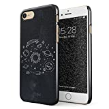 Glitbit Hülle Kompatibel mit iPhone 7/8 Cute Solar System Galaxy Stars Planet Earth Moon Universe Space Tumblr Welt Sterne Universum Dünn Robuste Rückschale aus Kunststoff Handyhülle Case Cover