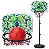 Mecotech Panier de Basket sur Pied Réglable 170cm Enfant Panier Basket Hauteur, Convient à L`intérieur ou L`extérieur pour Enfants Jeux de Balle, Cadeau Idéal pour Anniversaire, Fête , Noël