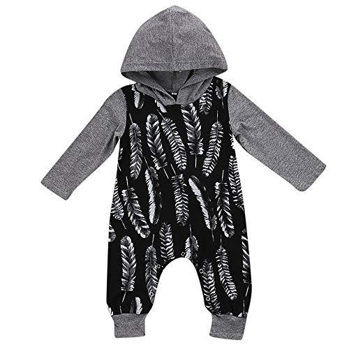 Babykleidung Set,Beikoard Baby Langärmliger Jumpsuit mit Kapuze Neugeborenes -