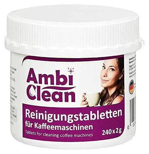 AmbiClean® Reinigungstabletten für Kaffeevollautomat und Kaffeemaschine | für Privat, Büro und Gastronomie - 240 Tabletten je 2g - Reinigung Tabletten