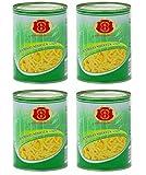 4x knackige Bambussprossen in Streifen a 567g Dose Asia Food Gemüse dauerhaft günstig bambus bamboo shoots 4x 567g