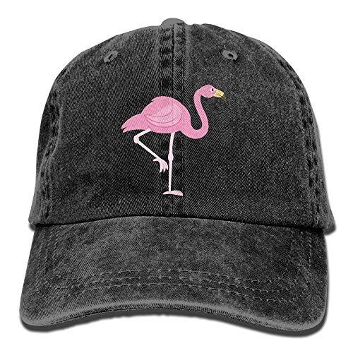 Hoklcvd Rosa Aquarell-Flamingo-Unisexcowboy-Baseballmütze-Vati-Hut-Fernlastfahrer-Hut Fashion12