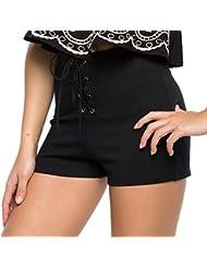 Ineternet Taille Haute Femme Lâche Laçage Shorts