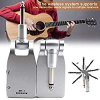 Ztoma Guitar Wireless Receiver,Wireless Guitar System,2.4G Wireless Guitar System Transmitter Receiver Built-in Rechargeable Battery