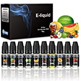 10 x 10ml Vikeepro E Liquid Box für Elektrische Zigarette, E-Shisha (0 mg ohne Nikotin)