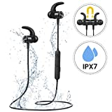 Bluetooth Headphones Running, Mpow S10 IPX7 Waterproof Wireless Magnetic Sports Earphones Three-band Equalizer