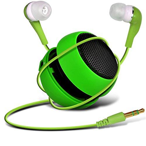 Preisvergleich Produktbild C63 ®-Nokia Lumia 1520-Kapsel-Lautsprecher Bass-Lautsprecher (aufladbar,  3, 5 mm-Klinkenstecker auf 3, 5-mm-Eingang & In-Ear Kopfhörer,  Grün