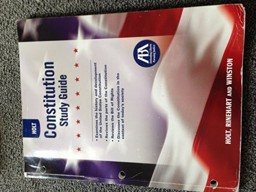 Holt United States History Constitution Study Guide