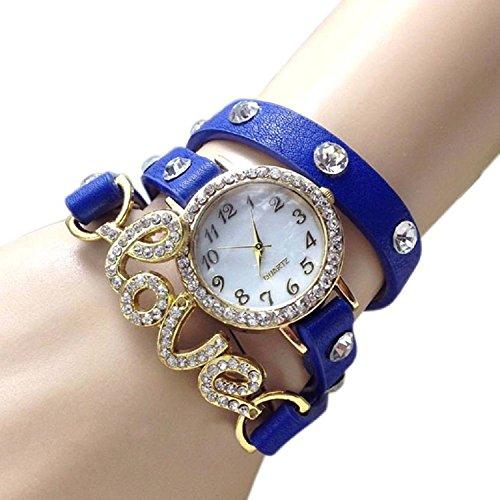 Orayan Love Bracelet Blue Stylish Analogue Watch For Girls & Women
