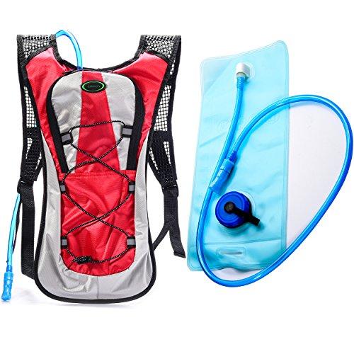 Juboury Hadration Pack - Trinkrucksack inklusive 2L Trinkblase zum Laufen, Wandern, Radfahren