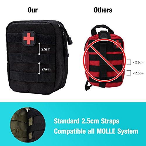 51n8u1Q4OuL - Bolsa de botiquín de Primeros Auxilios Bolsa de botiquín de Primeros Auxilios Bolsa de Utilidad médica para el Lugar de Trabajo en el hogar Camping Viajes(Black)