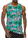 Loveternal Mens Flamingo Sleeveless T-Shirt 3D Bedrucktes Tank Top Lässige Cool Muscle Shirt S