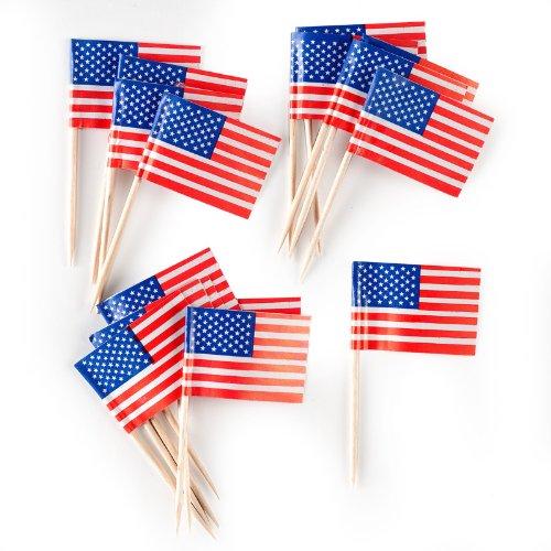 Creative Converting American Flag Food Picks