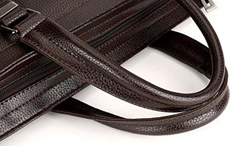 Männer Portable Aktenkoffer Geschäft Vertikalen Abschnitt Rucksack Horizontalen Absatz Freizeit Computer Tasche Schulter Diagonalen Paket Brown