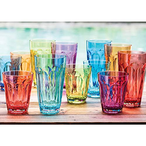 Tritan Highball und Glas Trinkglas-Set, 12 Pack - Multicolor - 12 Highballs