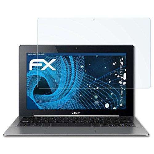 atFolix Schutzfolie kompatibel mit Acer Aspire Switch 11 V SW5-173 Panzerfolie, ultraklare & stoßdämpfende FX Folie (2X)