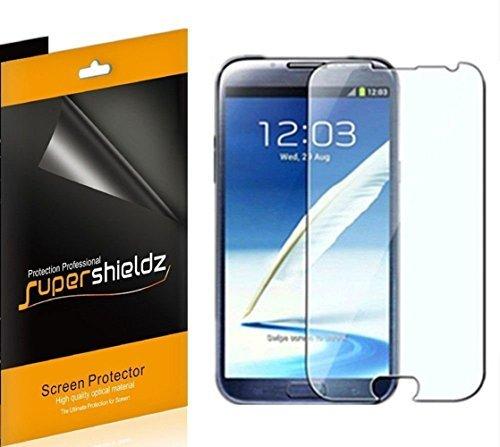 Supershieldz [6] High Definition Clear Displayschutzfolie Shield für Samsung Galaxy Note 2+ lebenslange Ersatz Garantie (at & T, Verizon, Sprint, T-Mobile, Alle Netzbetreiber) -Retail Verpackung (Handy Note 2 At&t)