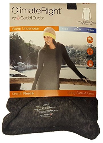 Cuddl Duds ClimateRight Langarm Crew Stretch Fleece - grau - XX-Large -