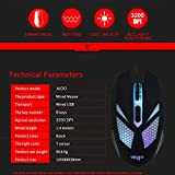 VBTEK AIGO 3200 DPI Programmable Gaming Mouse with Breathing Light and 6 Buttons