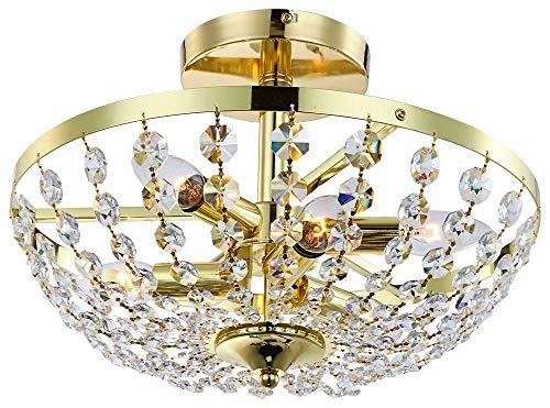 """Deckenleuchte\""""Cardinalis\"""" in Chrom Anzahl der Leuchtmittel/Farbe: 6 / Messing mit 288 Kristall"""
