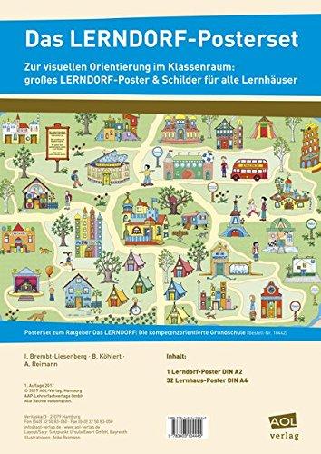 Das LERNDORF-Posterset: Zur visuellen Orientierung im Klassenraum: großes LERNDORF-Poster & Schilder für alle Lernhäuser