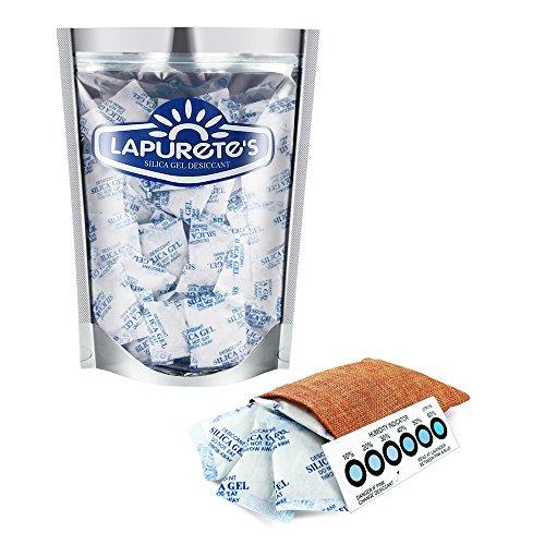 Lapurete \'s ® 10 Gramm 25 Stück Silicagel Pakete Trockenmittel Luftentfeuchter (regenerierbar)
