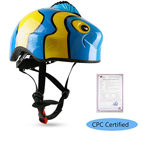 Leadfas Kids Cycle/Bike Helmet, CE Certified, Adjustable 3D Cartoon
