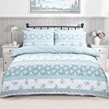 Patchwork Floral Teal Reversible Duvet Quilt Cover + PillowCases (King) By Pieridae