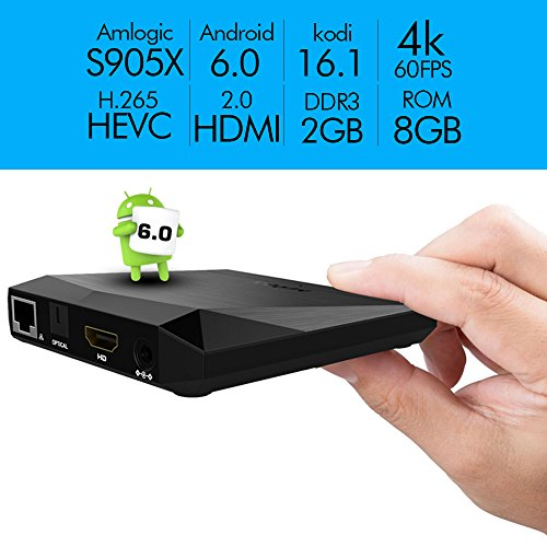 Globmall-Android-60-TV-Box-2GB-RAM-8GB-ROM-AmlogicS905X-64-Bits-Quad-Core-A1-Plus-Smart-TV-Box-Supporto-Vero-4K-60Hz-Full-HD-H265-WiFi-24GHz
