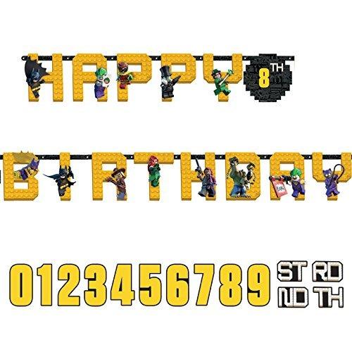 Preisvergleich Produktbild LEGO Batman Happy Birthday add-an-age Buchstabe Banner, 3,2m x 25cm
