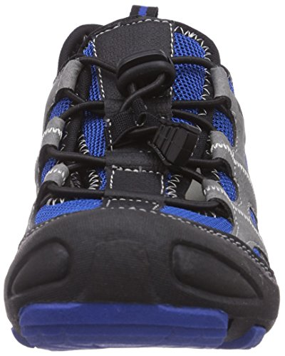 KangaROOS Kangaspeed 2066, Baskets Basses garçon Noir - Schwarz (black/royal blue 540)
