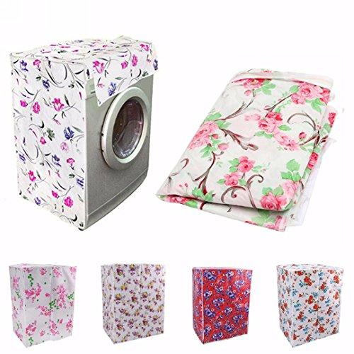 Waschmaschine Trockner Abdeckung Schutzhülle(Zufällige Farbe)