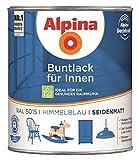 Alpina Buntlack für Innen - 750 ml - Ral 5015 Himmelblau seidenmatt