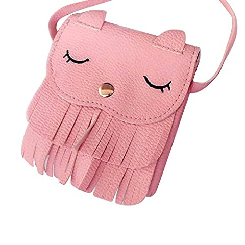 Fashion Lovely Girl Cat Style Tassel Faux Leather Shoulder Cross Body Mini Bag